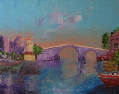 Roseline Chouraqui - Pont sur larno. florence