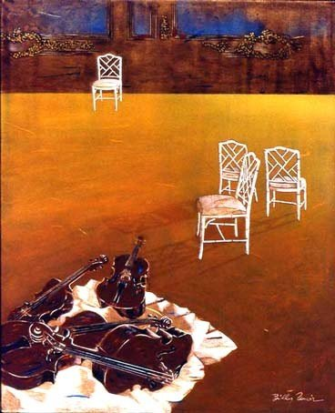 Billy Renoir - Composition with 4 chairs ©