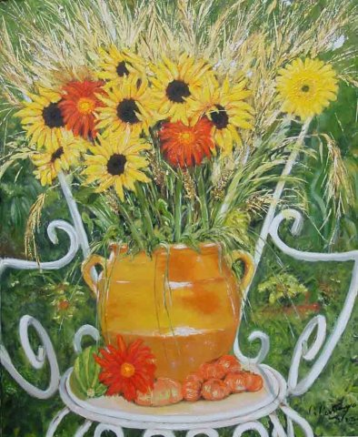 Guy Constanzo - Sunflowers on chair