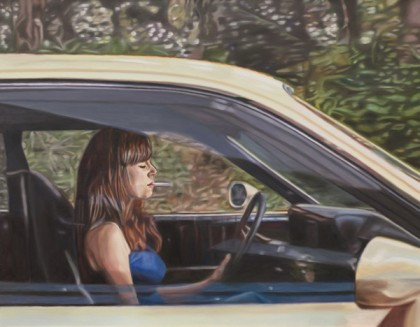 Galerie Vivoequidem - ?Driving Woman?, oil on canvas, 114 x 146 cm, 2011 ©Engbrox