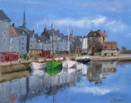 Francis Kuhlen - The old basin of Honfleur