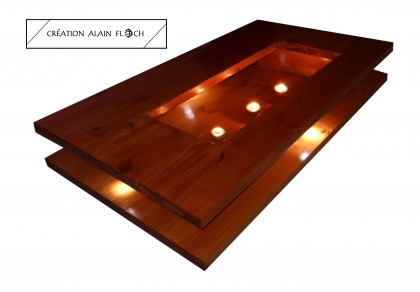 Alain Floch - TABLE BASSE LUMINEUSE DESIGN