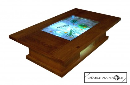 Alain Floch - TABLE BASSE AQUARIUM