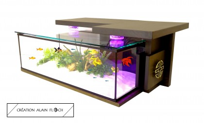 Alain Floch - Table basse aquarium MONASTIK