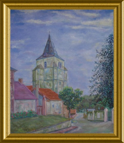 Claude Chapoix - Basseux-The old church street.