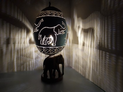 Marie Espinassier - Elephant calabash lamp