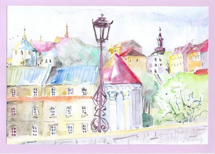 Korfano Art - Lublin - a view of Old Town.