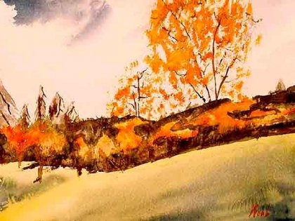 Denis Webb - Falling Leaves