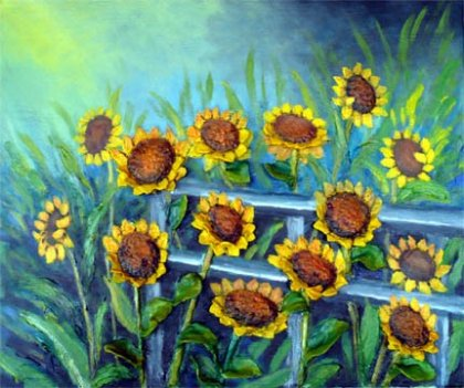 Galerie D art Johanne Thomas - turning in the sun 20 x 24collection emergence