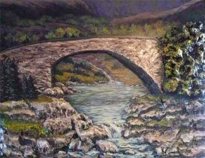 Galerie D art Johanne Thomas - Bridge and Nature 38 x 48 collection immergence